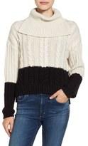 BP Colorblock Knit Turtleneck Sweater