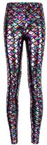 Alaroo Women Bling Mermaid Print Scale Leggings Pants Rainbow Plus XXL