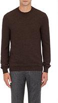 Incotex Men's Brick-Stitched Virgin Wool Sweater-BROWN