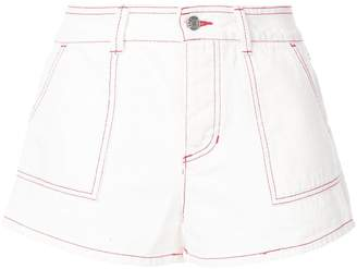 Sjyp red stitched shorts