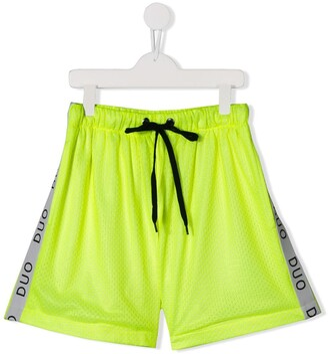 TEEN DUOltd side stripe track shorts