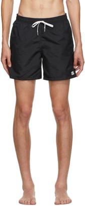 Bather Black Solid Swim Shorts