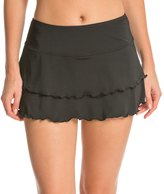Sporti Solid Polyester Cover Up Swim Skirt 8132544