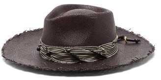Lafayette House Of Johnny Straw Panama Hat - Womens - Black