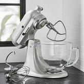 Crate & Barrel KitchenAid ® Artisan ® Design Series Sugar Pearl Silver Stand Mixer