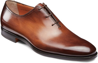 Santoni Men's Laurence One-Piece Leather Dress Shoes