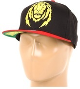 Zion DTA secured by Rogue Status New Era Snapback Hat (Black/Red/Yellow) - Hats