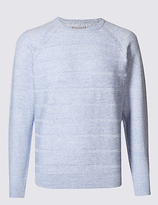 M&S Collection Cotton Rich Striped Jumper