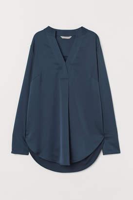H&M Satin Blouse - Turquoise