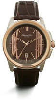 Kenneth Cole Two-Tone Rose Goldtone And Silvertone Strap Watch
