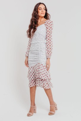 Iclothing Pretty Darling Mix and Match Floral Fitted Midi Skirt