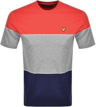 Lyle & Scott Wide Multi Stripe T Shirt Red