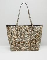 Asos Leopard Print Bonded Shopper Bag