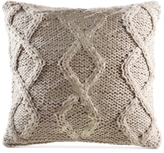 "Kas Nola Ivory 18"" Square Decorative Pillow"