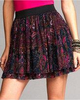 Mesh Tiered Skirt