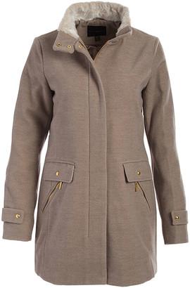 Weatherproof Women's Non-Denim Casual Jackets OATMEAL - Oatmeal Funnel Collar Coat - Women