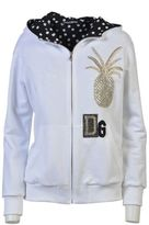 Dolce & Gabbana Cotton Zipped Hoodie With Sequins Embroidery