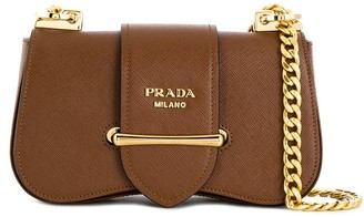 Prada sidonie brushed shoulder bag