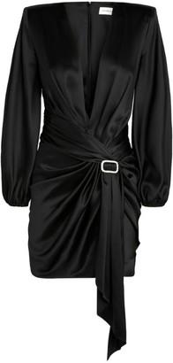 Alexandre Vauthier Silk Draped Dress