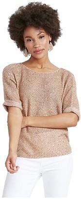 Nic+Zoe Stargazing Sweater (Soft Copper) Women's Clothing
