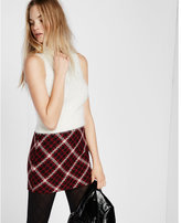 Express houndstooth tweed mini skirt