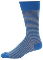 HUGO BOSS Marc Design US Striped Cotton-Blend Dress Socks