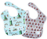 Bumkins Super Mario Blue & Gray 8-Bit SuperBib Two-Pack Bib Set