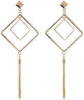 Natasha Accessories Diamond Tassel Post Drop Earrings