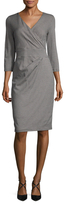 Max Mara Camelia Houndstooth Sheath Dress
