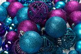 "100 Shatterproof Christmas Ornament Balls - Christmas Ornaments For Christmas Tree Home Wedding Or Parties Decorative Ball (Sizes, 1.2"" 1.6"" & 2.4"" ) (Blue & Purple)"