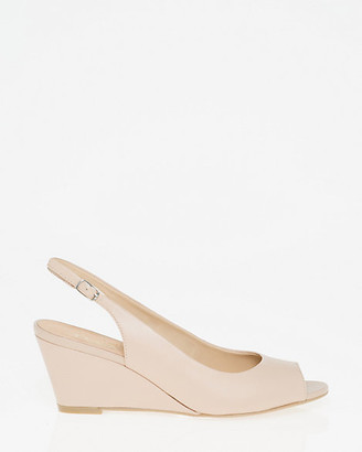 Le Château Leather Open Toe Slingback