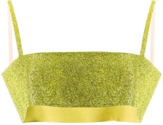 Nuè Charlotte silk cropped top