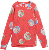 Jerry Leigh Red Rudolph Snowflakes Crewneck Sweatshirt - Girls