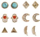 Topshop Women's Set Of 6 Stud Earrings