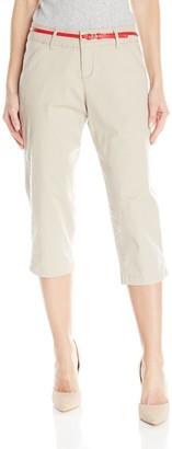 Lee Women's Natural Fit Belted Hope Capri Pant