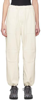 Off-White Gr Uniforma GR-Uniforma Faux-Leather Track Trousers