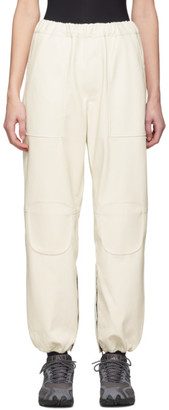 Off-White GR-Uniforma Faux-Leather Track Trousers