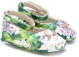 Dolce & Gabbana hydrangea print ballerinas