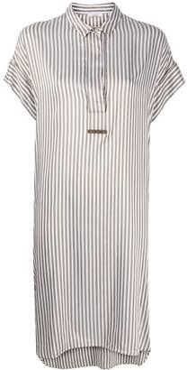 Peserico striped print asymmetric hem dress