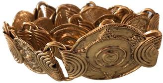 Saint Laurent Gold Metal Belts
