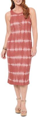 Wit & Wisdom Sleeveless Tie Dye Midi Dress