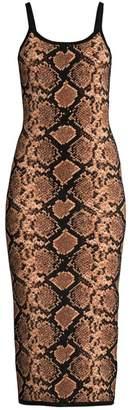 Michael Kors Metallic Python Slip Dress
