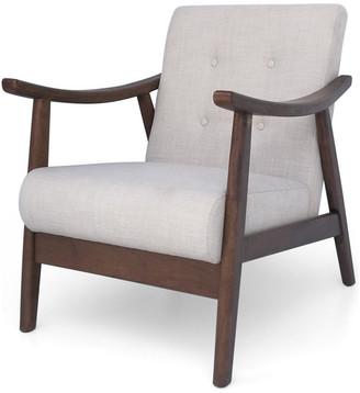 Mid-Century MODERN GDF Studio Aurora Accent Chair, Beige/Brown