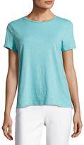 Eileen Fisher Slubby Organic Cotton Short-Sleeve Top