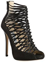black knotted leather 'Quito' platform sandals