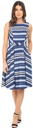 Donna Morgan Women's Sleeveless Novelty Fit-and-Flare Dress