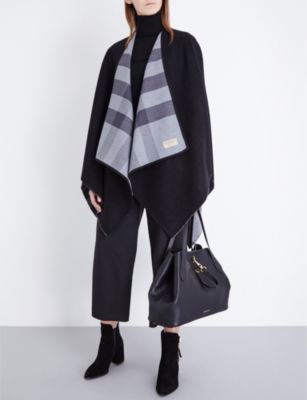 Burberry Check reversible wool cape