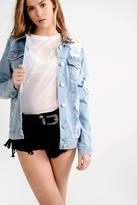 Glamorous Light Blue Stone Wash Denim Jacket