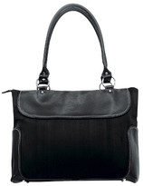 G. Pacific Women's Suede Business Computer Tote - Black