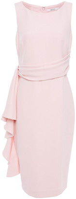 Badgley Mischka Draped Stretch-crepe Dress